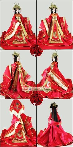 Supreme Chinese Ancient Princess Wedding Clothing and Hair Decoration  Complete Set for Adults rental set traditional buy purchase on sale shop  supplies ...