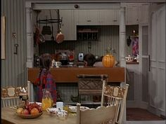 """The Mary Tyler Moore Show set. Loved the little kitchen with the """"pass through"""" counter. Notice the pull-down feature--so the kitchen could be closed off . Mary Tyler Moore Show, Little Kitchen, Mary's Kitchen, Kitchen Pass, Moore Kitchen, 70s Tv Shows, Lounge, Beth Moore, Flight And Hotel"""