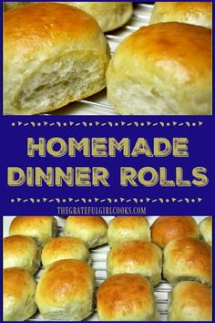 Homemade dinner rolls are soft, golden brown and buttery, and are a perfect accompaniment to any meal. Recipe has directions to make by hand or bread machine.