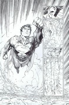 Superman Unchained #2 art by Jim Lee.
