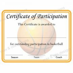 Stock Basketball Award Sport Certificate   X  Basketball