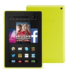 """nice Fire HD 7, 7"""" HD Display, Wi-Fi, 8 GB (Citron) - Includes Special Offers"""