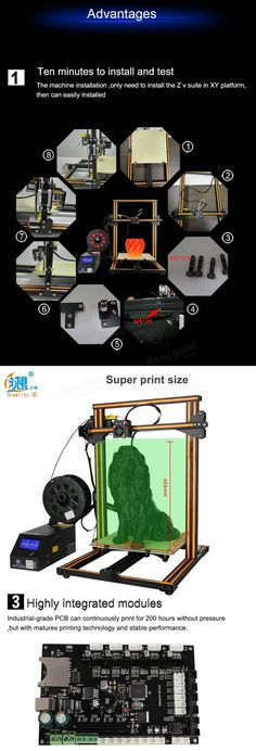 Creality DIY Printer Kit Printing Size With Z-axis Dual T Screw Rod Motor Filament Detector Nozzle 3d Printer Kit, 3d Printer Supplies, 3d Design Software, Types Of Printing, 3d Printing, Software Support, 3d Max, Photography Camera, Electrical Equipment