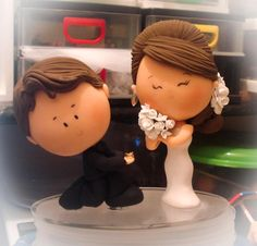 1 million+ Stunning Free Images to Use Anywhere Custom Wedding Cake Toppers, Wedding Topper, Wedding Favors, Wedding Cakes, Wedding Decorations, Clay Art For Kids, Fondant Figures Tutorial, Polymer Clay Ornaments, Free To Use Images