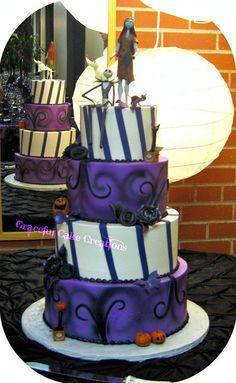 Nightmare Before Christmas Wedding Cake by Graceful Cake Creations, via Flickr
