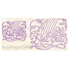 "Embroidery Design ""Alles ist gut"""