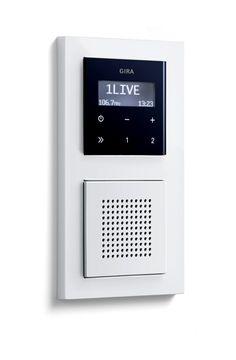 Gira inbouwradio met RDS aluminium badkamerradio met extra luidspreker heeft u ook stereo