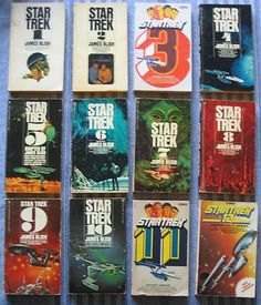 STAR TREK 1-12 books SET = TV show = JAMES BLISH