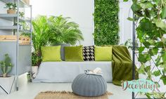 Walls Green Decor Most Wanted 2021 For You To Copy! 😍 | My Easy Decoration Decor, Grey Sofa Living Room, Living Room Green, Trending Decor, Living Room Grey, Interior Design, Home Decor, Interior Trend, Outdoor Furniture Sets