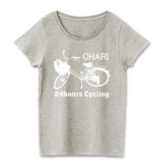 チャリT Tシャツ(ロゴ白)   デザインTシャツ通販 T-SHIRTS TRINITY(Tシャツトリニティ)