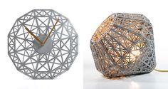 Le directeur de création de la startup française le FabShop a dessiné puis fabriqué à l'aide d'imprimantes 3D MakerBot, des collections d'objets (lampes, horloges et contenants) intitulées Paris, Miami et Singapour, à l'effigie des villes qui recevront cette année ce salon professionnel en France, en Amérique et en Asie.