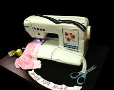 It's a CAKE!!    Pfaff sewing machine cake by debbiedoescakes, via Flickr