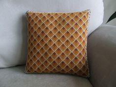 Small hand made cross stitch cushion
