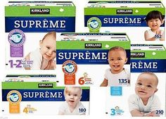 Kirkland Signature Supreme, Baby Diapers Size: 1 - 6 Value Pack Diaper Brands, Diaper Sizes, Supreme, Infant, Packing, Diaper Babies, Baby, Diapers, 1 Year