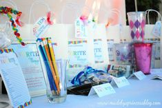 Favorite Things Party / Great for getting to know one another by sharing each other's favorite things. It's a really fun way to bond a group of friends and everyone's happy because they get to take goodies home!