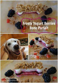 Frosty Yogurt Berries Bone Parfait via @Janice Snyder Woofs on the BBS Healthy #dog blog! Click for full #recipe! #dogtreatrecipe #dogrecipes // BestBullySticks.com
