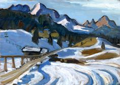 "Gabriele Münter - - ""Winter in Elmau"", Oil on Plywood, 33 x 45 cm Wassily Kandinsky, Winter Landscape, Landscape Art, Landscape Paintings, Painting Snow, Painting & Drawing, Cavalier Bleu, Blue Rider, Illustration Art"