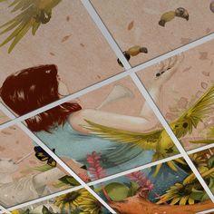 Custom SQR FoldScape Drop Ceiling Tiles
