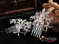 2 PCS Handmade Charming Rhinestone Hair Comb Wedding Bridal Prom | eBay - Bridesmainds