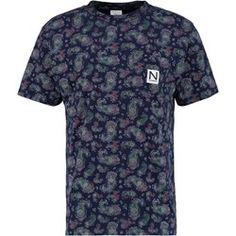 New Black TAYEB Camiseta print navy zalando el-negro Algodón