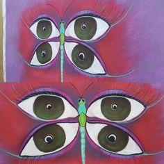 La mirada de la libélula  Técnica Pastel en papel Canson de lija 70x50.