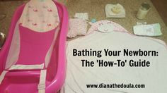 Bathing your newborn seems pretty easy. After all, we all know how to take a bath. However, bathing a newborn can be a very daunting task. Baby List, Everything Baby, Doula, Mom And Dad, Baby Room, Parenting, Bathing A Newborn, Kids, Baby Baby