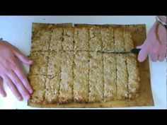 Video recipie - healthy oaty bars for on the go active people