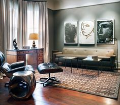 Bachelor home decor bachelor pad decorating ideas for living room home Manly Living Room, Masculine Living Rooms, Living Room New York, Beige Living Rooms, Bed In Living Room, Elegant Living Room, Living Spaces, Living Area, Small Living