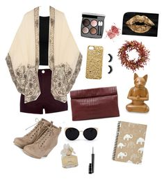 """Maroon and nude evening style"" by putrinazarudin ❤ liked on Polyvore featuring Miss Selfridge, River Island, Anna Sui, Marie Turnor, Una-Home, Marc by Marc Jacobs, Chanel, MAC Cosmetics, Oliver Gal Artist Co. and NOVICA"