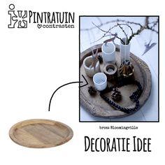 Decoratie Idee - Houten Bord - #Pintratuin ♥ contrasten