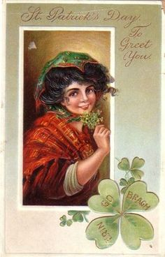 Vintage st patricks day Postcards | Scraps Of Time: free vintage postcard images st. patrick's day