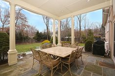 Meals are always better al fresco at this stunning Livingston, NJ house!