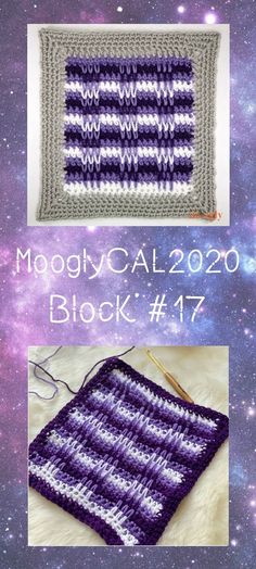 MooglyCAL2020 Block 17 is a fun and spikey square of rows by Stitch and Hustle!  This stitch pattern is so nice you might end up using it for other projects too! Read on for all the details, and for the link to Block #17 in this free year-long crochet along featuring Red Heart With Love!  #mooglycal2020 #mooglycal #crochetalong #yarnspirations #freecal #freecrochetpatterns