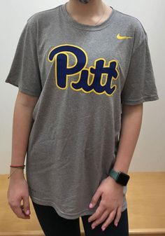 Nike Pitt Panthers Grey Legend Short Sleeve T Shirt - 19861171 Pitt Panthers, Pittsburgh, Nike, Grey, Sleeves, T Shirt, How To Wear, Gray