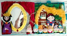 Snow White page Quiet book Once Upon A Sock