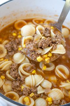 This Hamburger Soup is hearty and delicious, with a rich, flavorful broth. It takes less than 30 minutes from start to finish, making it a perfect busy weeknight meal solution.