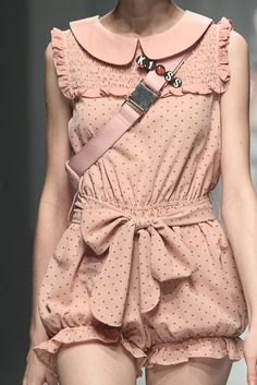 How pretty is this little playsuit, strictly for the young though! Kawaii Fashion, Pink Fashion, Cute Fashion, Runway Fashion, Womens Fashion, Japanese Fashion, Asian Fashion, Pretty Outfits, Dressing Rooms