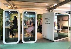 Framery O and Q acoustic phone and work booths at Clerkenwell Design Week – Office Design 2020 Office Space Design, Workplace Design, Office Interior Design, Office Interiors, Room Interior, Mini Office, Open Office, Small Office, Cool Office