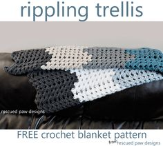 Crochet Blanket Pattern - Rescued Paw Designs Co. - Crochet this simple and FREE crochet blanket pattern from Rescued Paw Designs. Would make a great throw blanket, or even a baby shower gift! Make one today!