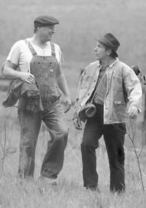 The Outsider  Of Mice and Men    GCSE English   Marked by Teachers com This is a picture of Lennie and George in the story Lennie and George work  at other people ranch so they can get by in life in the story of mice an