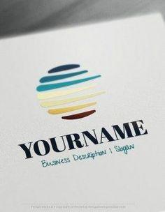 Design Free Logo online Abstract Sketch Online Logo maker free