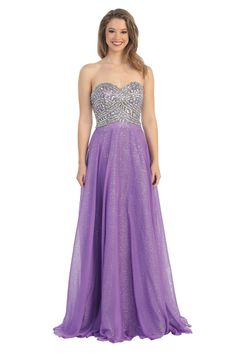 Long Strapless Formal Prom Special Occasion Dress