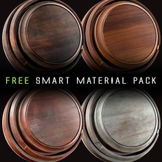 Free wood  smart material pack, Mario Dalla Bona on ArtStation at https://www.artstation.com/artwork/XZRen