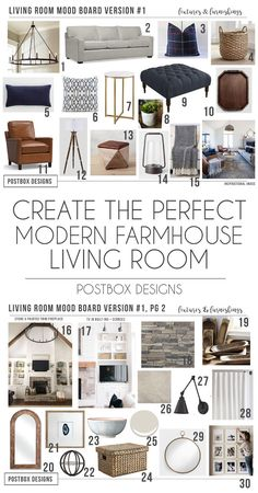 Modern Meets Farmhouse Family Room Makeover Postbox Designs Interior E-Design: Farmhouse Meets Modern Living Room Makeover, Modern Farmhouse Decor, - Add Modern To Your Life Room Makeover, Farmhouse Decor Living Room, Farm House Living Room, Room Design, Modern House, Home Decor, Room Remodeling, Farmhouse Family Rooms, Family Room Makeover