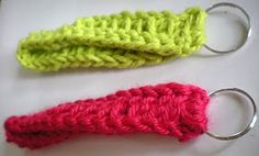 Crochet key fob - just made one of these with a bit of my own modifications and I LOVE it!