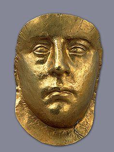Scythian Burial mask of a king -- 3rd century AD -- Pantikapaion necropolis Kerch -- Gold