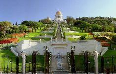 Baha'i Gardens in Haifa. A UNESCO world heritage site. הגנים הבהאחיפה