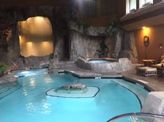 Mineral pool area, Grotto Spa at Tigh-Na-Mara, Parksville, British Columbia