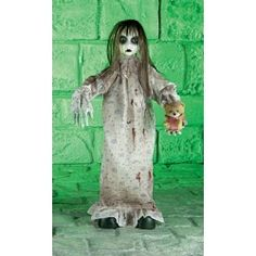 Animated Standing Doll Halloween Prop