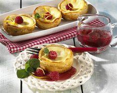 Ricottaküchlein und marinierte Himbeeren Rezept   LECKER Ricotta Torte, French Toast, Cheesecake, Breakfast, Desserts, Party Party, Food, Biscuits, Small Cake
